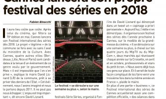 Cannes lancera son propre festival des séries en 2018