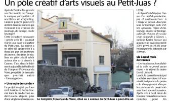 Un pôle créatif d'arts visuels au Petit-Juas