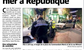 Huit interpellations à République