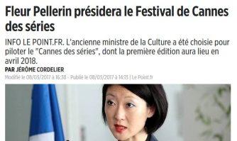 Fleur Pellerin présidera le Festival de Cannes des séries
