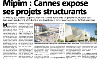 Mipim : Cannes expose ses projets structurants