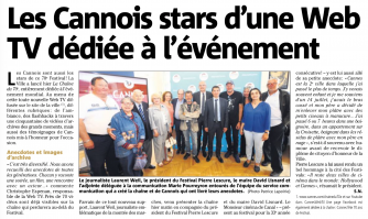 Les Cannois stars d'une web TV dédiée aux 70 ans de Festival