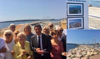 Inauguration de la digue Est du Port Moure Rouge