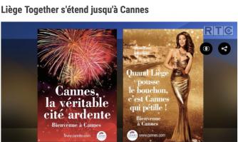 Liège Together s'étend jusqu'à Cannes