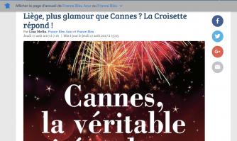 Interview de David Lisnard sur France Bleu : Liège, plus glamour que Cannes ? La Croisette répond !