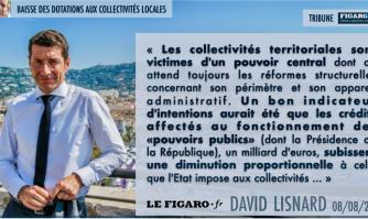 Tribune FigaroVox de David Lisnard : Macron sabre le budget des collectivités locales... mais pas celui de l'Élysée !