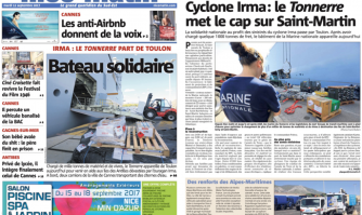 Bateau solidaire : Cyclone Irma, le Tonnerre met le cap sur Saint-Martin