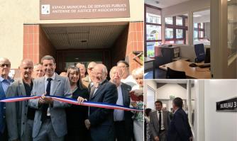 Inauguration du nouvel espace municipal de services publics comprenant l'Antenne de Justice et Associations + à Cannes la Bocca
