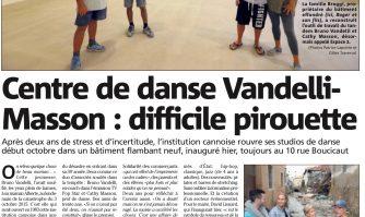Centre de danse Vandelli-Masson : difficile pirouette