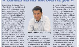 """Entretien des cours d'eau : """"Cannes Lérins fait bien le job"""""""