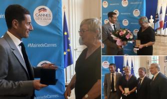 Médaille d'or de la Ville de Cannes pour Elizabeth REYNAUD