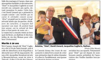 """Soixante ans d'union pour """"Zézé"""" et Jacqueline Caglieris"""