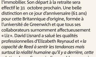 """La médaille d'or de la Ville de Cannes décernée à """"Liz"""""""