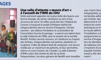 """Une salle d'attente """"oeuvre d'art"""" à l'accueil de l'IRM de l'hôpital de Cannes"""