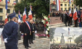Cérémonies de l'Armistice du 11 novembre et de l'hommage à ceux qui sont morts pour la France dans les différents conflits de notre histoire