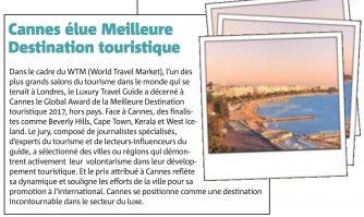 Cannes élue Meilleure Destination touristique