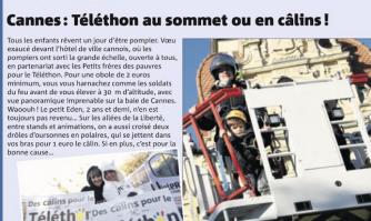 Cannes : Téléthon au sommet ou en câlins