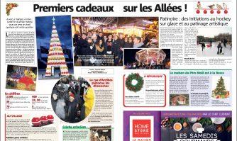 Inauguration du Village de Noël : premiers cadeaux sur les Allées !
