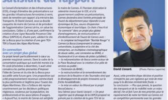 Gare TGV-TER à la Bocca : David Lisnard satisfait du rapport