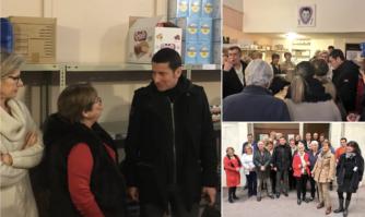 David Lisnard mobilisé auprès des bénévoles des Restaurants du Cœur de Cannes