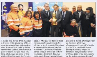 La Marianne d'Or du secours solidaire à Christophe Visentin