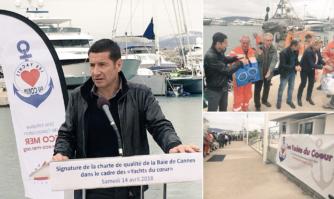 David Lisnard a participé à la traditionnelle « chaîne de solidarité » des Yachts du Cœur