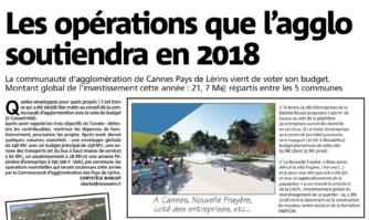 Les opérations que l'agglo soutiendra en 2018.