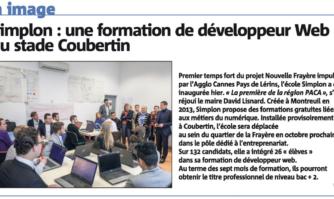 Simplon : une formation de développeur Web au stade Coubertin