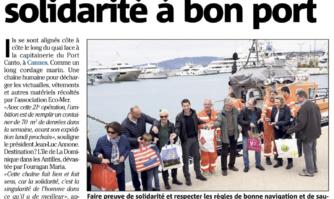 Yachts du coeur : la solidarité à bon port