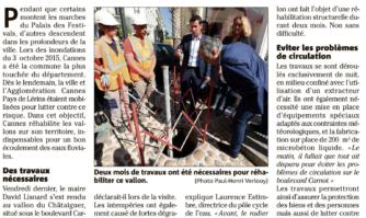 La lutte contre le risque inondation se poursuit à Cannes