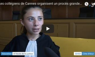 Les collégiens de Cannes organisent un vrai-faux procès