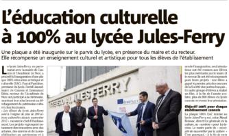 L'éducation culturelle à 100% au lycée Jules-Ferry