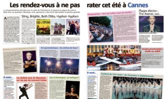 Les rendez-vous à ne pas rater cet été à Cannes