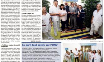 L'hôpital de Cannes a officiellement inauguré sa nouvelle Unité Neuro Vasculaire (UNV)