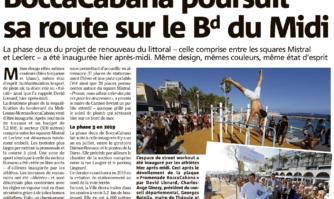 BoccaCabana poursuit sa route sur le boulevard du Midi