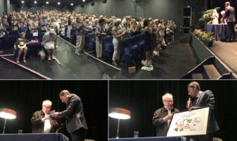 David Lisnard a remis la médaille d'Or de la Ville à Philippe Bouvard pour célébrer 80 ans d'idylle avec Cannes !
