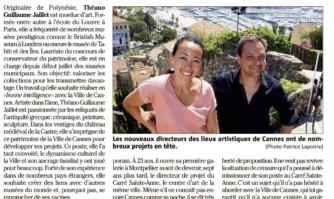 Cannes : l'art change de tête