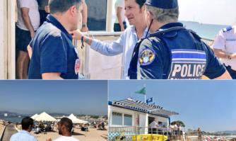 Saison estivale : visite de terrain pour vérifier la sécurité et la propreté des plages de Cannes