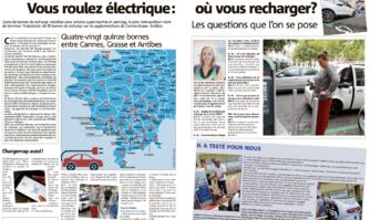 Vous roulez avec une voiture électrique? Voici la carte des 95 bornes de recharge installées entre Cannes, Grasse et Antibes
