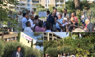 Le square du parking Saint-Nicolas dénommé Anne-Marie Dupuy en hommage à cette femme de convictions, ancienne Maire de Cannes