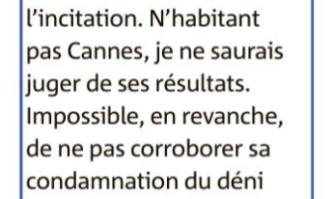 Plus q'une reflexion le Maire de Cannes en a fait un combat de chaque instant  dans sa ville
