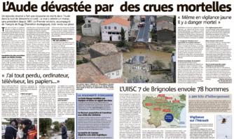 L'Aude dévastée : la Mairie de Cannes a dépêché une aide logistique