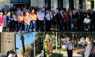 Cérémonie d'hommage aux victimes des intempéries meurtrières du 3 octobre 2015