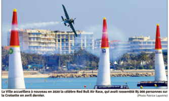 La Red Bull Air Race de retour à Cannes en avril 2020