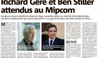 Richard Gere et Ben Stiller au Mipcom