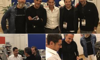 David Lisnard a accueilli Nikos Aliagas, les équipes de TF1 et de NRJ à la Mairie de Cannes