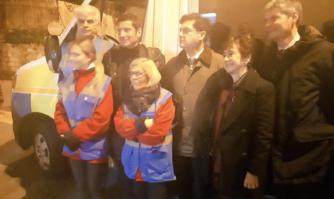 David Lisnard en maraude nocturne lors d'une tournée du Samu Social, avec le Préfet des Alpes-Maritimes