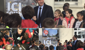 Une nouvelle plaque « Ici commence la mer » à l'École Élémentaire Méro de Cannes