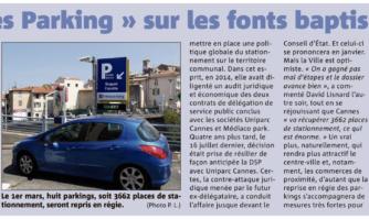 « Cannes Parking » sur les fonts baptismaux