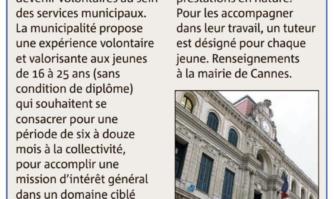 Service civique à Cannes